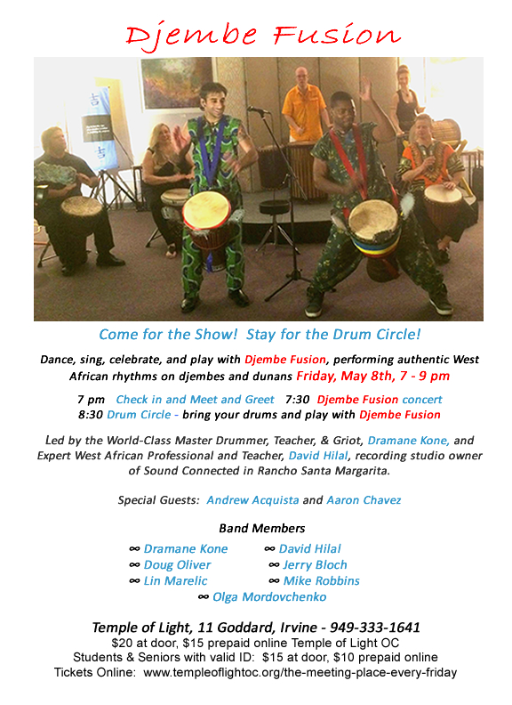 Djembe Fusion poster - TOL 2015-5-8