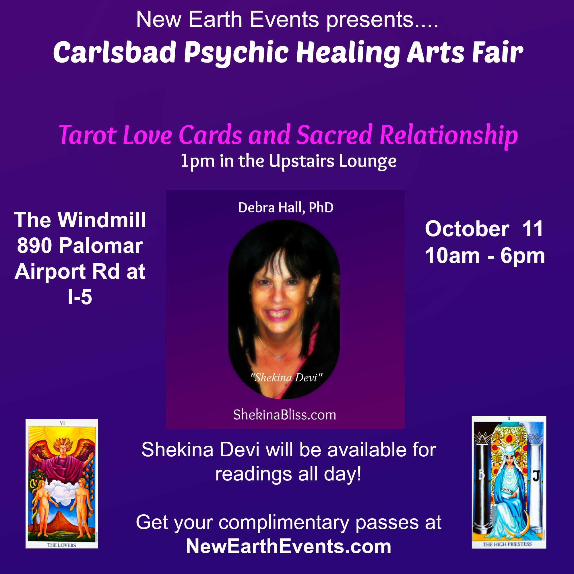 Tarot Love Cards – Carlsbad – Heart Centered Events OC & Beyond