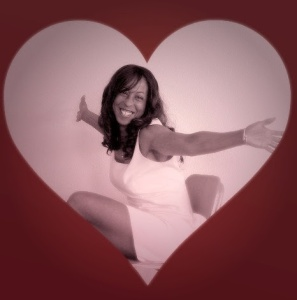 Ayanna in heart with hands