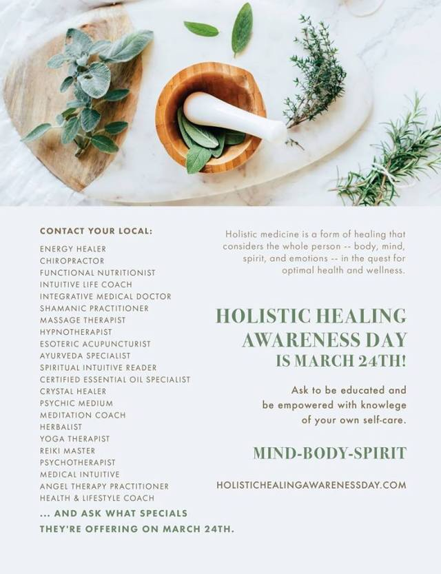 Holistic Healing Awareness Day
